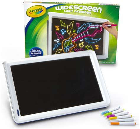 crayola light up board amazon com crayola widescreen light designer 74 7053