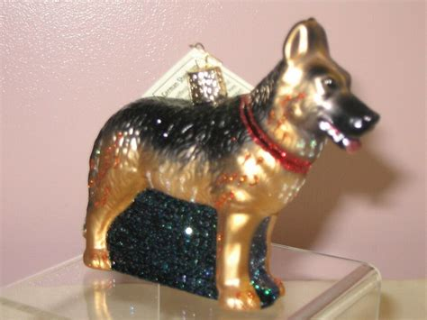 german christmas ornaments in warwick ri world quot german shepherd quot glass ornament ebay
