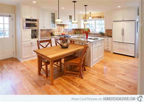 kitchen island with attached table 15 beautiful kitchen island with table attached fox home design