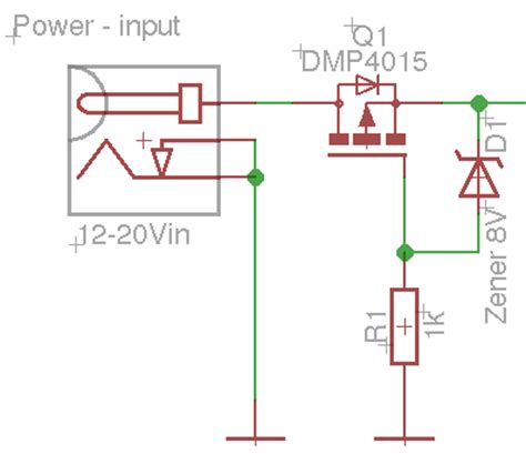 protection diode for mosfet input output protection with polyfuse and diode page 1