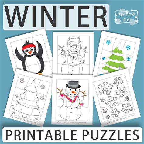 12 best winter puzzles images printable winter puzzles for itsy bitsy
