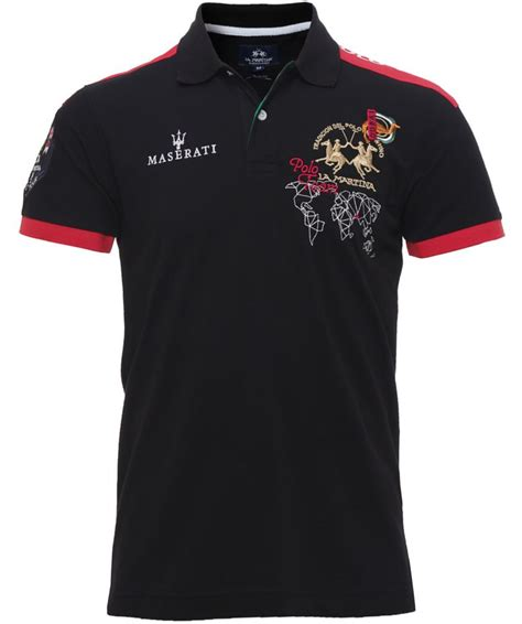 Maserati Clothing by La Martina Slim Fit Maserati Polo Shirt Available At Jules