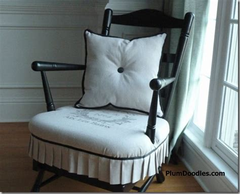 rocking chair cushion set with skirt early american to country rocking chair makeover