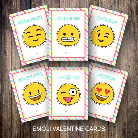 cards for classmates printable kid s s day cards emoji valentines