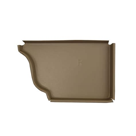 amerimax home products 5 in clay aluminum right