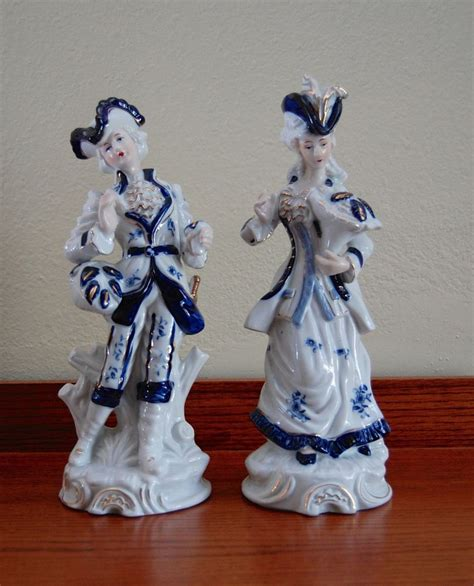 george and martha washington porcelain figurines vintage