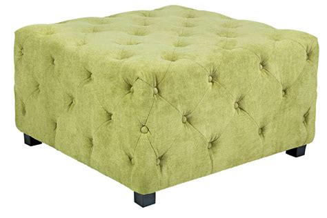 green tufted ottoman duncan large tufted green cube ottoman
