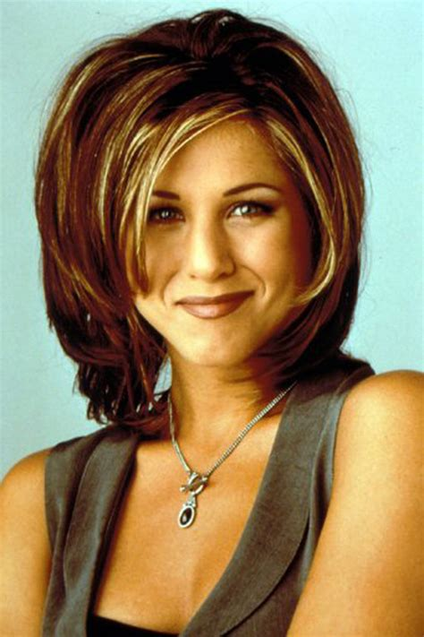 rachel seasons haircuts rachel green s hair friends hairstyles throughout the