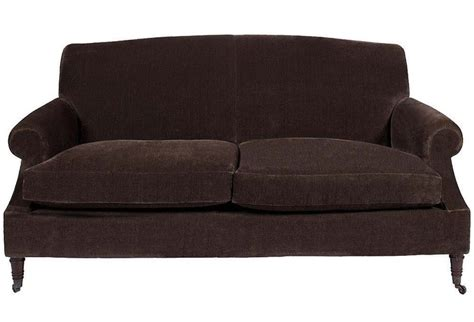 brown velvet sofa custom sofa in great plains brown velvet