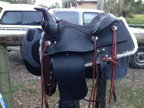 Handmade Saddles For Sale - custom made black western saddle saddles and tack for