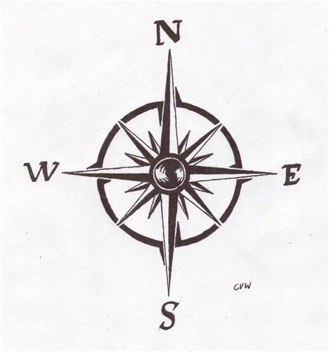a simple compass design tattoo ideas pinterest