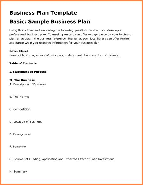 grocery store business plan template image collections