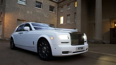 Series 2 White Rolls Royce Phantom Hire