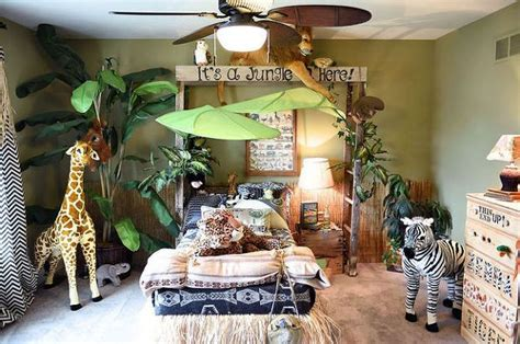 jungle baby room ideen jungle themed bedroom repurposing upcycling and wall decor