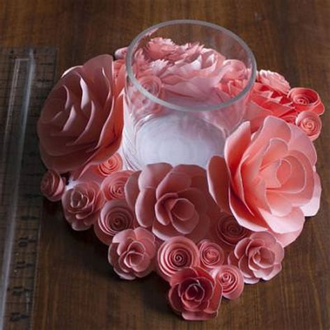 Paper Table Decorations To Make - watercolor paper flowers table decorations tip junkie