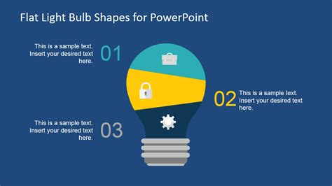 pattern shapes powerpoint flat light bulb shapes for powerpoint slidemodel