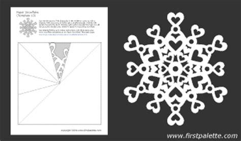 printable heart snowflake template paper snowflake patterns printable templates coloring