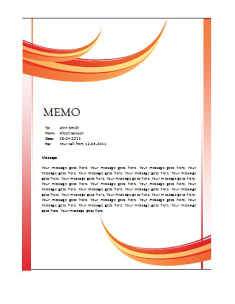 Memo Template Design Business Memo Format Helloalive