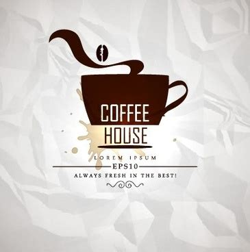 free coffee house music bar with coffee house and music sign vector free vector in adobe illustrator ai ai