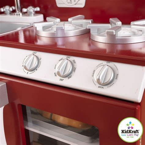 kitchen amazon amazon com kidkraft cranberry retro kitchen and