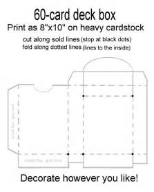 card box template deck box card deck and box templates on