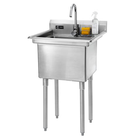 stainless steel utility trinity 23 quot x 23 quot single stainless steel utility with