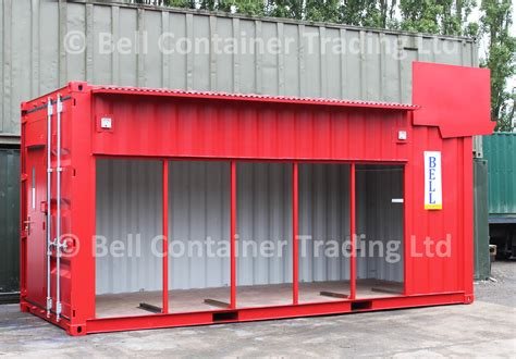 scow back waste containers bespoke experiential shipping container conversion