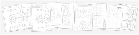 Free Printable Pdf Templates Paper Craft Pdf Patterns Free Printable Papel Picado Template