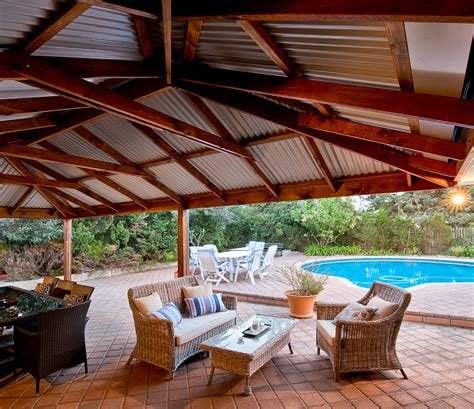 Timber Patio by Deck And Erect Bali Huts Pergolas Patios More