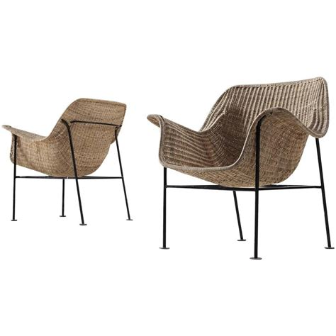 Wicker Armchairs Sale by Pair Of Scandinavian Wicker Armchairs For Sale At 1stdibs