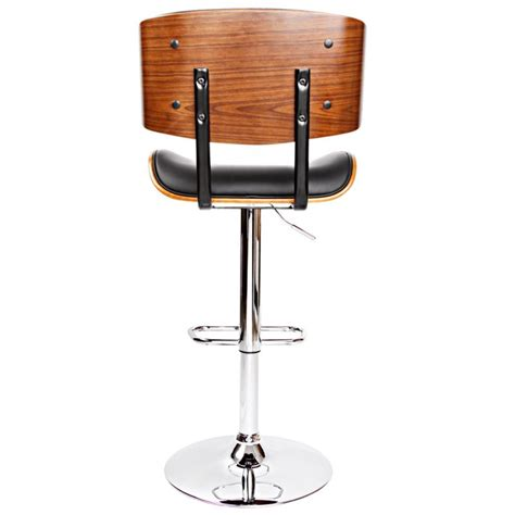 wood and chrome bar stools wood black pu leather curve seat chrome bar stool buy
