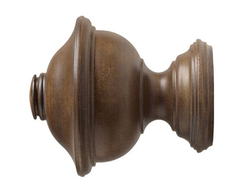 wood drapery rods and hardware kirsch chaucer finial for 1 3 8 inch wood drapery rods at