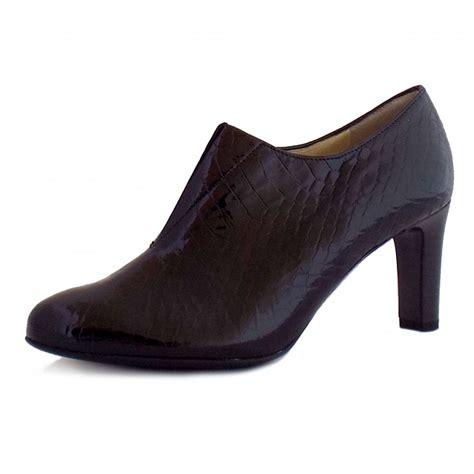 kaiser hanara black patent leather shoe