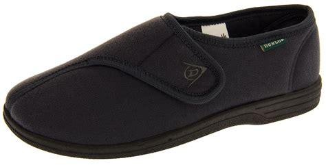 velcro slippers for the elderly mens dunlop grey orthopaedic velcro adjustable elderly