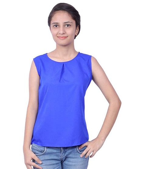Tiara Tops by Tiara Of Suman Blue Net Tops Buy Tiara Of Suman Blue Net