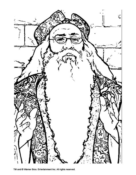 Harry Potter Coloring Pages Dumbledore | albus dumbledore coloring pages hellokids com