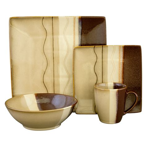 sango zanzibar dinnerware brown set of 16 dinnerware
