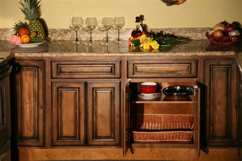 rustic kitchen cabinets pecan maple glaze kitchen cabinets rustic finish sle