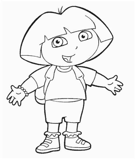 Dora The Explorer Coloring Pages Learn To Coloring Explorer Coloring Pages