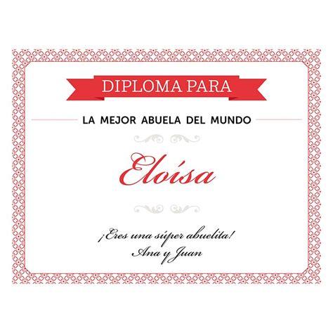 certificado a la mejor abuela del mundo para imprimir gratis picture diploma personalizado para la mejor abuela