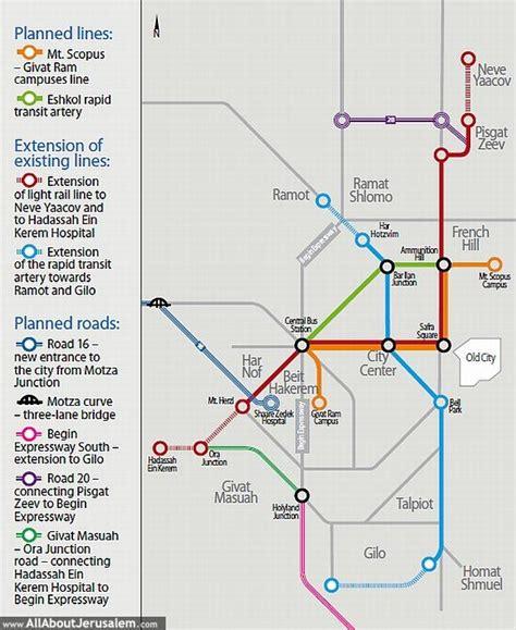 jerusalem light rail map new 20 km length path israeli authorities approves the