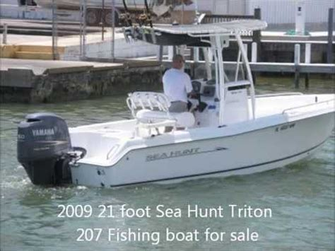 21 foot parker boats for sale 2009 21 foot sea hunt triton 207 fishing boat for sale