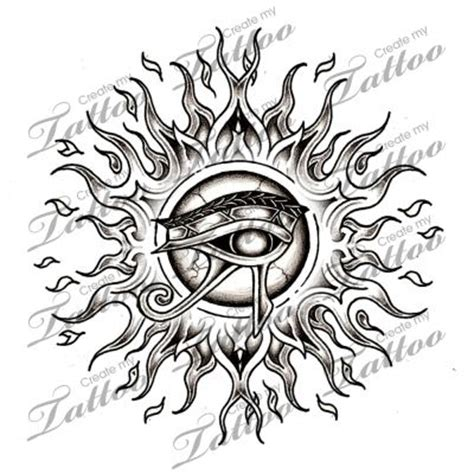 the eye of horus tattoo designs marketplace horus eye sun 6222 createmytattoo