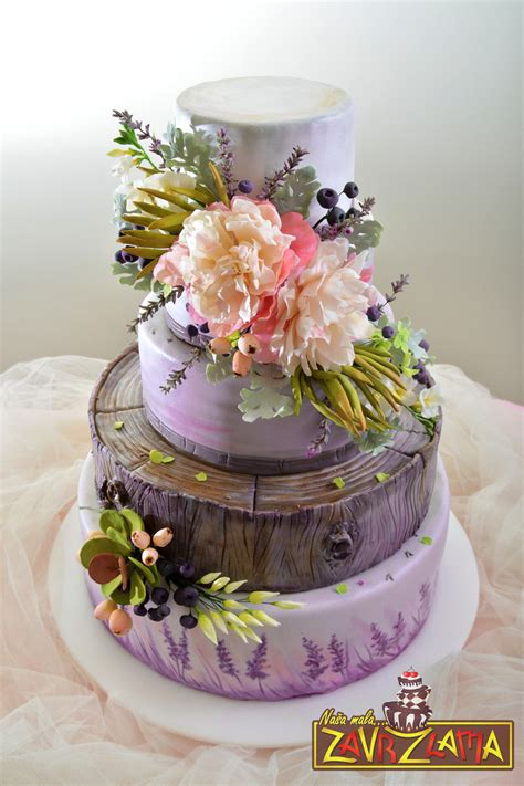 Flower Garden Cake Ideas Wedding Lavender Wedding Cake Cakecentral