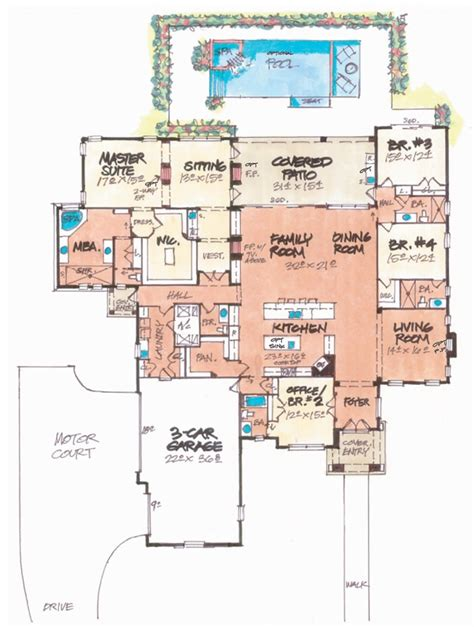 villa lago home plan