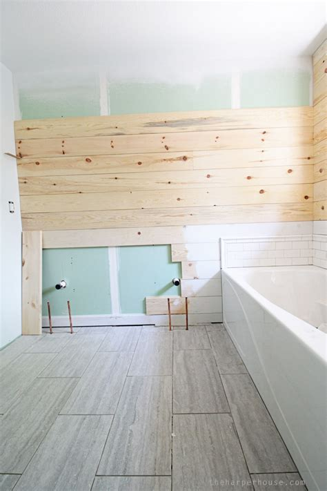 Tile Shiplap Flip House Master Bath Updates The House
