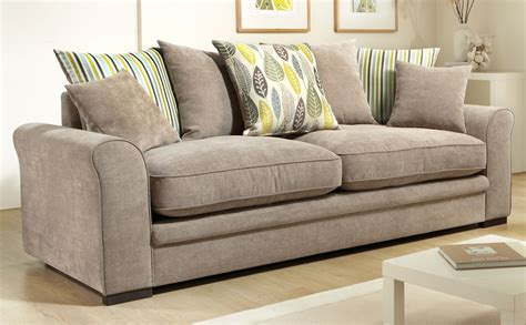Marsden Fabric Pillowback Sofas Taupe Only 163 399 99