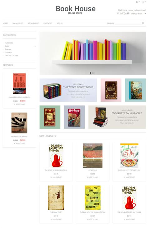 Free Templates For Books Websites | 30 book store website themes templates free premium