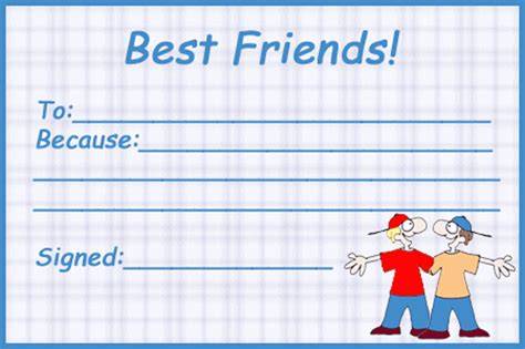 best friend certificate templates best friends boys certificate printable coloring