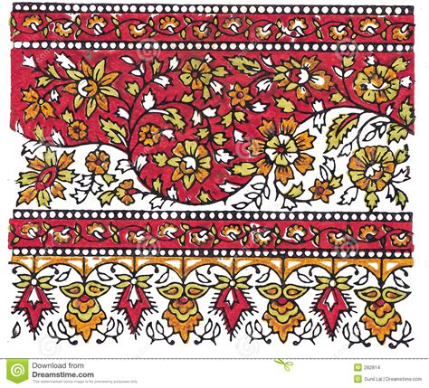 traditional designs indian traditional textile design stock illustration